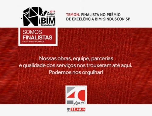 Somos finalistas do Prêmio SindusCon-SP